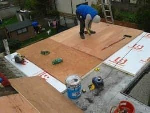 ply flat roofing repair